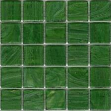 25pcs SM11 Emerald Green Bisazza Smalto Italian Glass Mosaic Tiles 2cm x 2cm