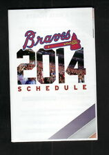 Atlanta Braves--2014 Pocket Schedule--Chevron