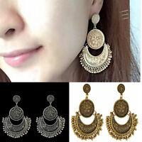 Women Fashion Jewelry Boho Ethnic Tassel Coin Drop Dangle Vintage Earrings Gift