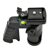 Pistol Grip Ballhead Tripod Head with 1/4 Quick Release Plate - Supports 15.4 lb