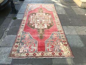 Turkish Handmade Vintage Rug 9x4 RugOversize Rug,Oushak Floor Carpet,Rugs,sku617