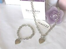 Beautiful Lia Sophia SHEILA DALE Necklace & Bracelet Set, NWOT