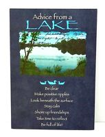 Happy Birthday Greeting Card Advice From a Lake Leanin Tree Earth Friendly New