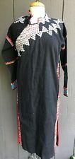 Thai Mhong Ethnic Handmade- Embroidered Vintage Long Dress , Artsy, Boho Style