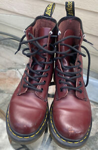 DR MARTENS AirWair Purple Boots Womens Size 6 NO SOLE. 11821 (1460) Combat