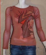 OHDD Size 26 Taille 36 Superbe haut top tee shirt manches longues ton  rouille T- a66c46bb4b