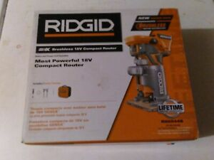 Ridgid R86044B 18v cordless brushless compact router (tool only)