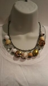 Rustic chain Chunky ball Necklace.~. New.  Pulse