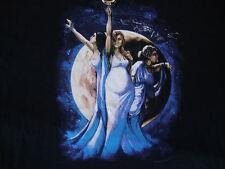 Moon Magic Woman Wizard Warlock Fantasy T Shirt Sz 3XL