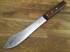 antique Handmade CARBON STEEL RAZOR SHARP vintage THIN butcher knife walnut