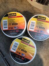 "3M SCOTCH 77 WHITE FIRE RETARDANT TAPE 3"" x 20'( 6Rolls)"