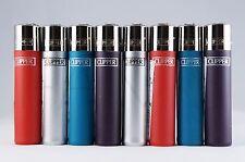 8 pcs New Refillable Clipper Full Size Lighters Metallic Colors