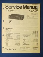 TECHNICS SA-R330 RECEIVER SERVICE MANUAL ORIGINAL FACTORY ISSUE THE REAL THING