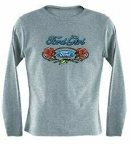 Ladies FORD GIRL Long Sleeve T-Shirt * Exclusive * Ships Worldwide & FREE To USA