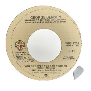 George Benson Love Ballad / You're Never Too Far From Me 45 RPM Record Vinyl