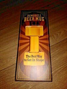 Strong guy beer mug 18 oz Dumbbell Beer Glass, great gift!