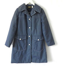 Vtg Weather Watcher Coat Insulated Blue Pockets Size 10(Fits M)