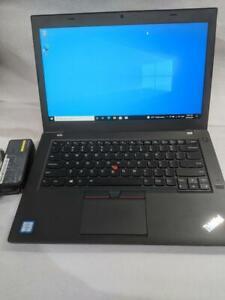 "Lenovo ThinkPad T460 i5-6300U@2.4GHz 8GB RAM 256GB SSD 14"" screen W10P"