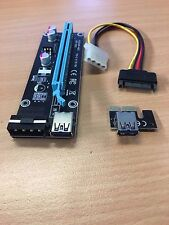 USB3.0 Pcie PCI-E Express 1x To 16x Extender Riser Card Adapter Power