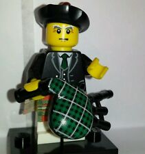 Genuine Lego minifigures Series 7 Scottish Bagpiper with Bagpipes minifig