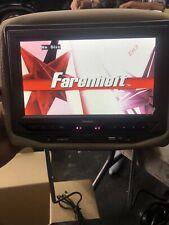 """FARENHEIT HRD-93BG CAR 9"""" HEADREST DVD PLAYER IR FM TRANSMITTER USB/SD/AUX INPUT"""
