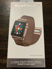 Platinum Magnetic Mesh Metal Band for Apple Watch 38mm/40mm Rose Gold NEW!