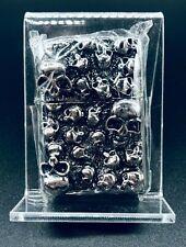 Japanese Zippo 3D Wall of Skulls Lighter w/ Velvet Box (Mega Rare Piece!)