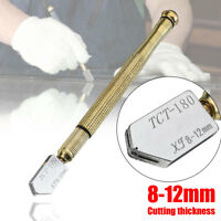 Glass Cutter Cutting 8-12mm Wheel Blade Oil Feed Tool Tipped Craft Glazing Tool