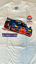 New Old Stock Vintage Collectible 1996 Bmw, McLaren F1 Gtr T Shirt, White, Gulf