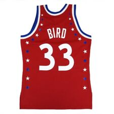 Larry Bird 1983 Nba All Star East Mitchell & Ness Autêntica camisa branca Masculino