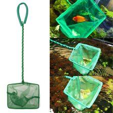 New listing Aquarium Square Fishing Net Fishing Tank Catching Dush Cleaning Mesh Tools Green