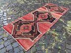 Turkish rug, Runner rug, Vintage rug, Handmade, Corridor, Wool | 3,0 x 7,4 ft