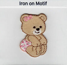 Baby Bear en Rose fer sur applique écusson patch, BRAND NEW