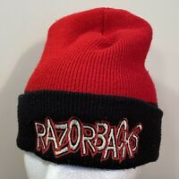 Arkansas Razorbacks Winter Hat Beanie Mens Adult Red Black NCAA College