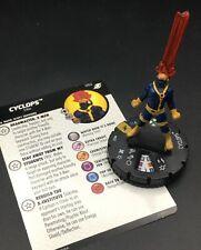 HEROCLIX SUPER RARE CYCLOPS #052 W/CARD MARVEL X-MEN XAVIER'S SCHOOL SET