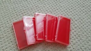 5 Pc Empty Storage Case Box Container Holder False Eye Lashes Lash Care RED