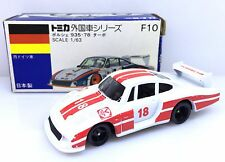 MADE IN JAPAN TOMY TOMICA F10 PORSCHE 935-78 TURBO PORSCHE RACING 1/63 DIECAST