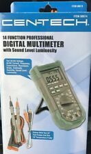 14 Function Prof Digital Multimeter With Sound Level And Luminosity Cen Tech