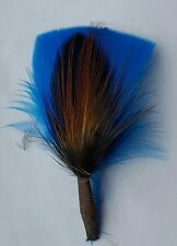 Hat Band Feather, Hatband Feathers, Fedora Tuxedo  turquoise feather, pheasant