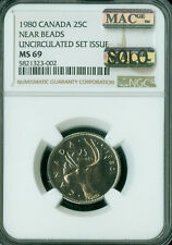 1980 CANADA 25 CENTS NGC MS69 PQ MAC SOLO FINEST GRADE MAC SPOTLESS  *
