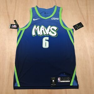 100% Authentic Kristaps Porzingis Nike Mavericks City Jersey Size 48 L Mens