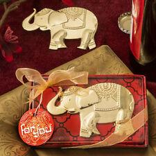 Good Fortune Golden Elephant Bottle Openers Asian Themed Wedding Favors
