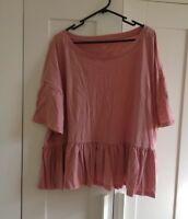 Gorgeous Pink 'Gap' Top - 100% Cotton - Peplum Style - BNWOT - XXL