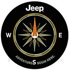 Jeep Adventure Begins Here Spare Tire Cover For 225/75/16 Tire New Free Shipping