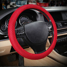"""Red No smell 38cm 15""""  Summer 3D Sandwich Eva Rubber Car Steering Wheel Cover"""