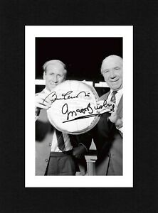 8X6 Mount CHARLTON & BUSBY Signed PHOTO Gift Ready To Frame MANCHESTER UNITED
