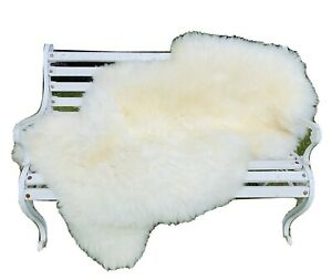Fur White Sheepskin Eco IN Mint Condition Carpet Decoration Large About 135 x 85
