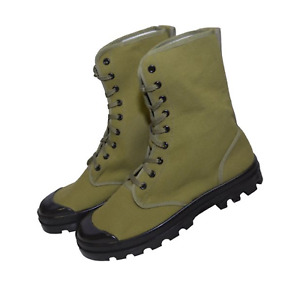 French Military Style Canvas Commando Boots