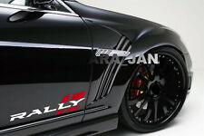 RALLY Sport Decal Sticker racing car stripe auto emblem logo motorsport 2PC PAIR