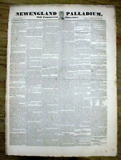 1829 newspaper ANDREW JACKSON 1st INAUGURATION w Printing FULL INAUGURAL ADDRESS